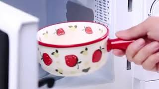 북유럽 세라믹 손잡이 요거트 볼 샐러드 과일 예쁜 그릇…
