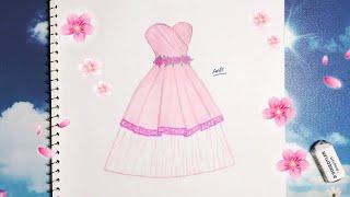 Draw a short wedding dress 12 - Vẽ Váy Cưới 12 - An Pi TV Coloring