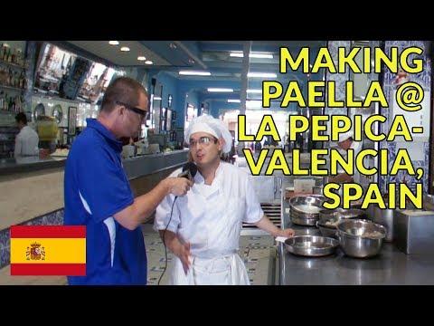 Make Spanish Paella @ La Pepica in Valencia Spain--Famous Place on the Beach