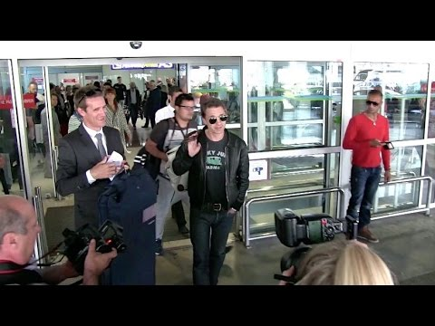 EXCLUSIVE: Olivier Martinez arriving at Cannes airport for the festival