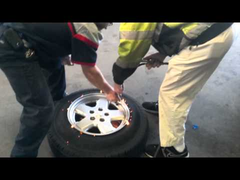 How-To: Inflate A Tire That Wont Seat The Bead (Starting Fluid Explosion Trick)