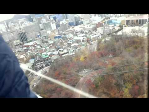 Seoul View From Namsan Tower Cable Car