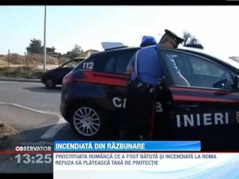 Prostituata romanca incendiata in Italia din razbunare