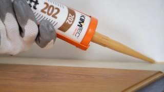 KIM TEC Акриловый герметик Parkett Laminat 202(Видео инструкция по применению акрилового герметика KIM TEC Parkett Laminat 202., 2016-06-28T18:54:38.000Z)