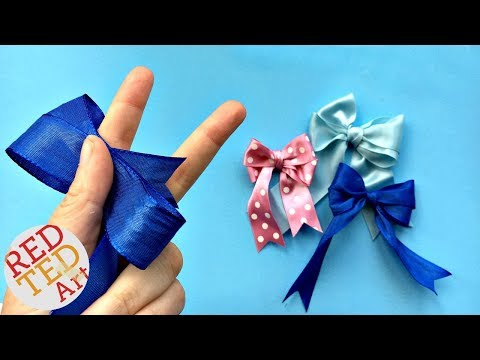 97f67d81925d Double Bow Tutorial - Easy Hair Bow DIY - How to make a perfect bow - Craft  Basics - YouTube