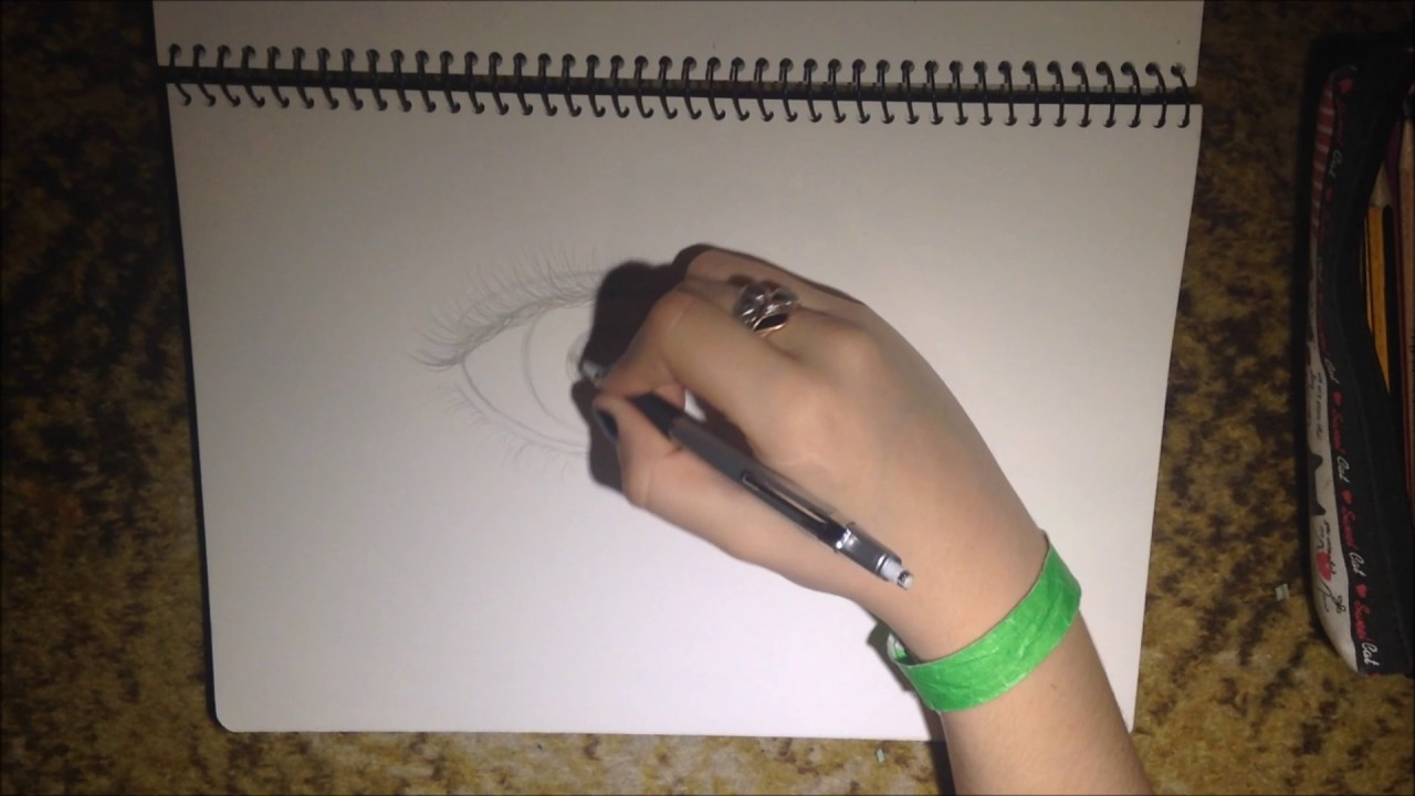 Smudging stick test  eye drawing