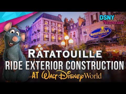 RATATOUILLE Ride Exterior Construction Begins At Epcot - Disney News - 11/1/18