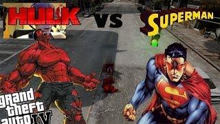 GTA 4 Webcam Red Hulk Mod + Superman Mod - Red Hulk vs Superman
