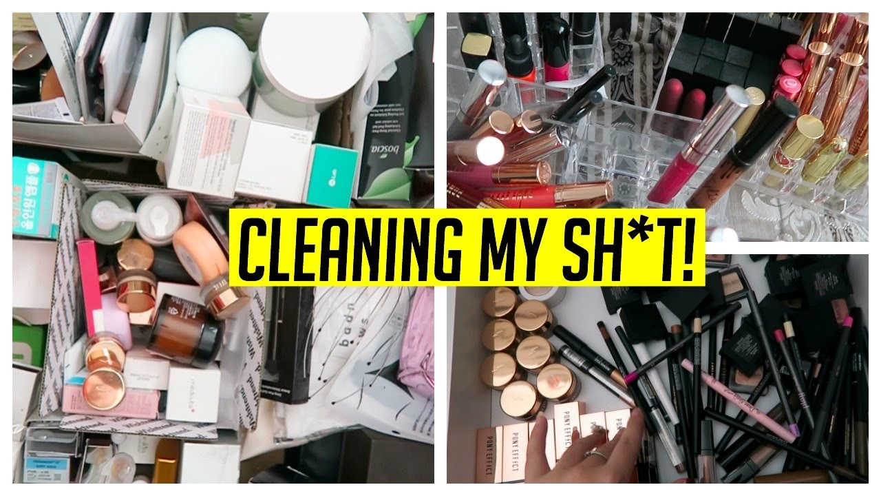 Organizing My Makeup Skincare Products Youtube