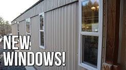 Mobile Home Window Replacement - Kinro Low-E Vinyl Windows on Aluminum Metal Siding Home