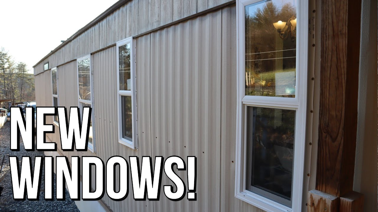 Mobile Home Window Replacement Kinro Low E Vinyl Windows On Aluminum Metal Siding Home Youtube
