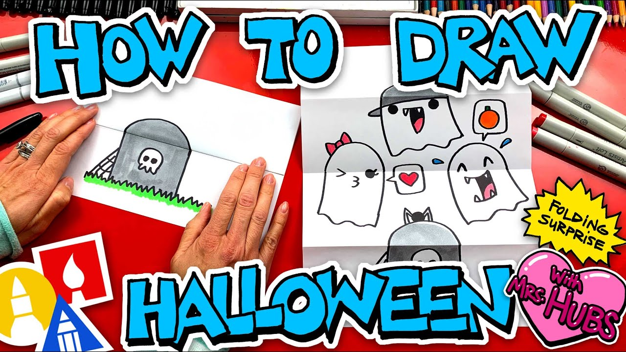 How To Draw A Halloween Folding Surprise With Mrs. Hubs