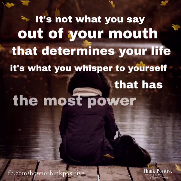 Its Not What You Say Out Of Your Mouth Inspirational Quote Youtube