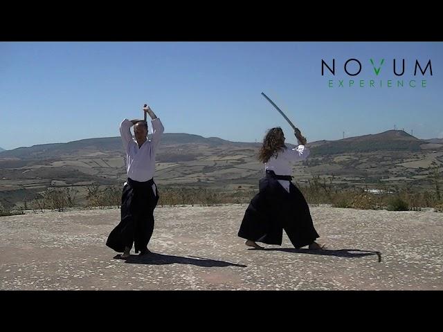 03 San no suburi - Aikido Novum Experience - Ken suburi nanahon -合気道-  三の素振り- 剣素振り七本