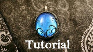 Azure Fantasy/Gothic Polymer Clay Pendant | Velvetorium | 軟陶, Полимерная Глина, Arcilla Polimérica.