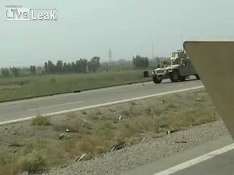 IED Attack On US Military Humvee While Clearing The Route In Iraq, NO INJURIES
