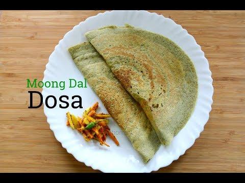 Moong Dal Dosa - Pesarattu - Easy Instant Green Gram Dal Dosa Recipe- Skinny Recipes For Weight Loss
