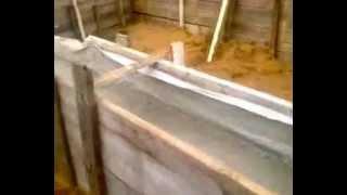 Часть 5. Ленточный фундамент после заливки(Ленточный фундамент после заливки через неделю. Можно уже снимать опалубку. Подписаться на бесплатную..., 2012-10-14T10:04:36.000Z)