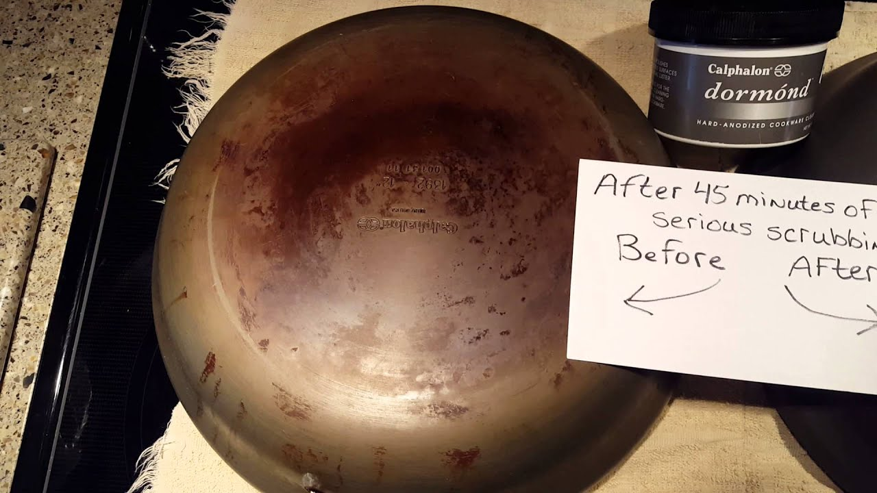 Cleaning Calphalon Pots And Pans Youtube