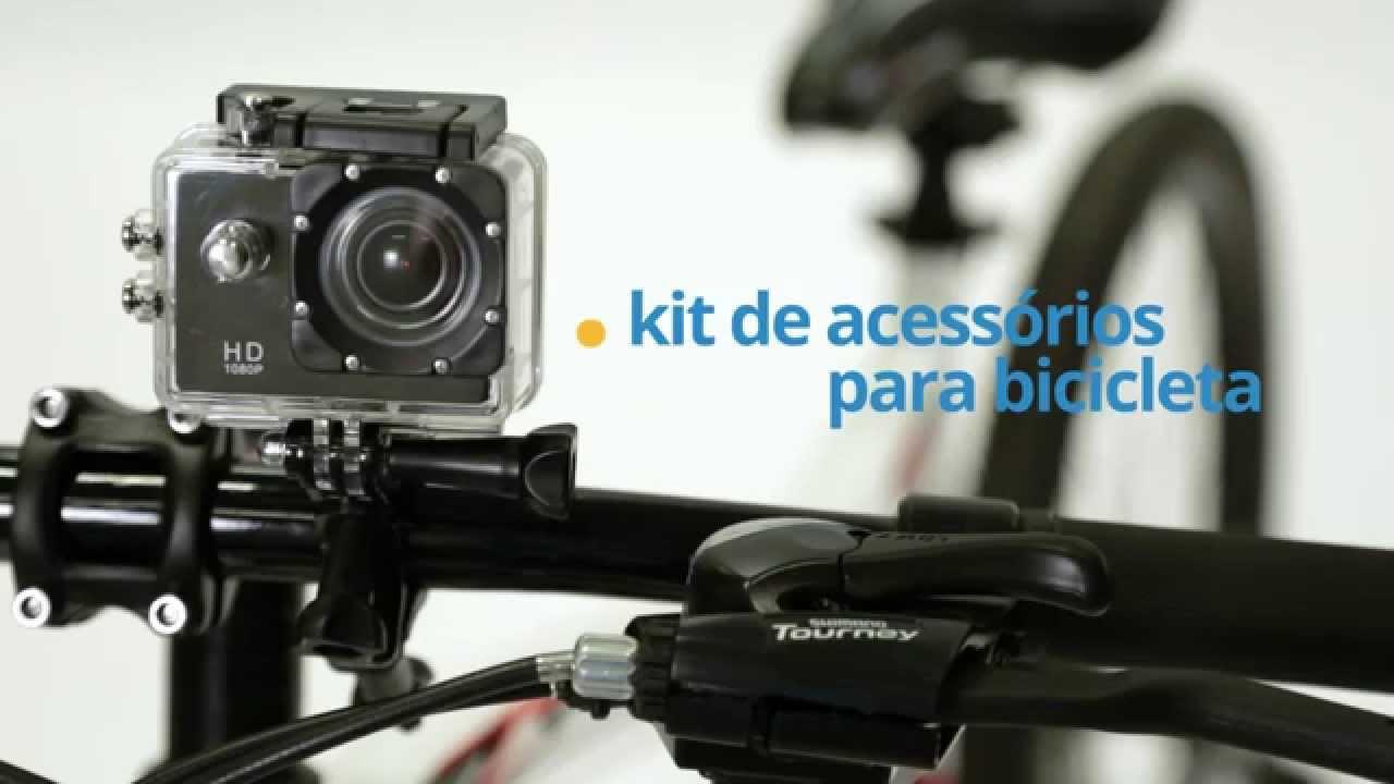 d6045b09ad Como montar  Câmera de Ação Full HD ONN - Acessórios para Bicicleta -  YouTube