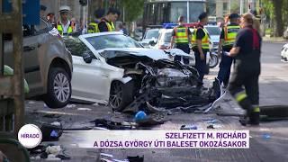 Szelfizett M. Richárd a Dózsa György úti baleset okozásakor