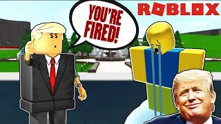 Becoming Donald Trump in Roblox and Trolling People in Bloxburg