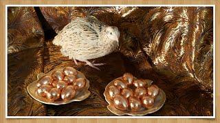 Золотые яйца. ПАСХА и Новый Год - необычные яйца к празднику своими руками. Golden quail eggs