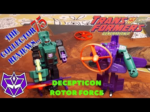 Transformers G2 Rotor Force RANSACK & POWERDIVE Review