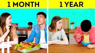 1 MONTH VS 1 YEAR    Funny Things About Relationship That Will Make You Laugh!
