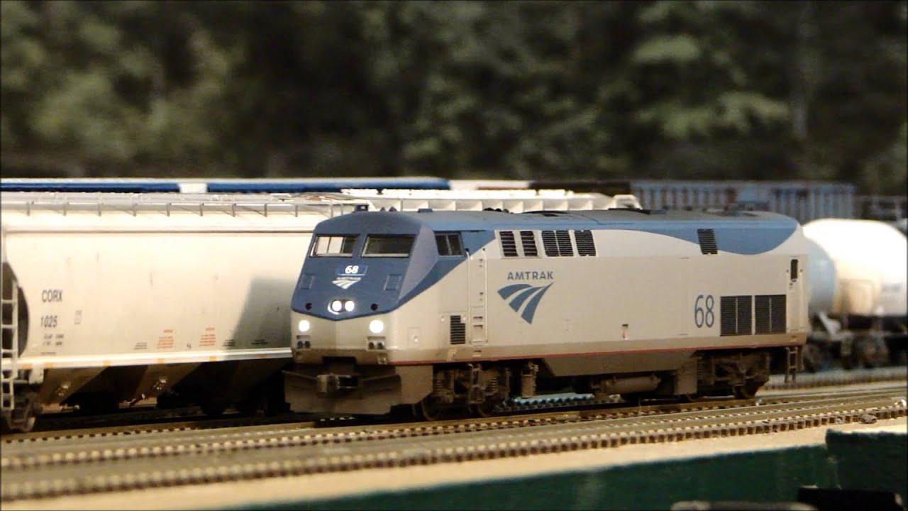 Kato Amtrak P42 Flashing Ditch Lights Loksound Youtube