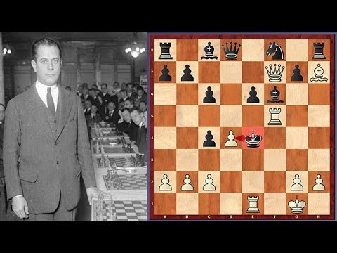 Capablanca's Immortal Checkmate With 2 Hanging Pieces