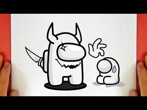 Download How to Draw Among Us Impostor Vs Mini Crewmate Sad | Dibujos De Among Us