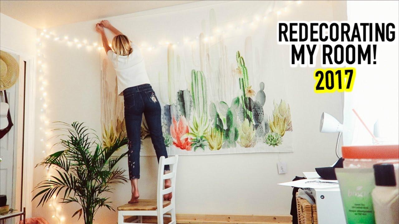 REDECORATING MY ROOM 2017 - YouTube