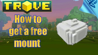 TROVE - how to get a free mount at any level guide [tutorial] ps4 gameplay