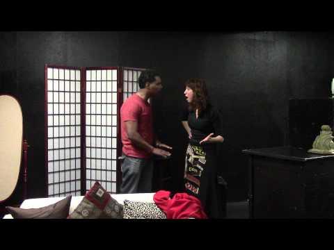 Pilar Ordóñez en una escena con el actor Jay Dot en el Susan Batson Studio