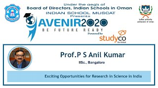 Exciting Opportunities for Research in Science in India. Prof. Anil Kumar, IISc., Bangalore