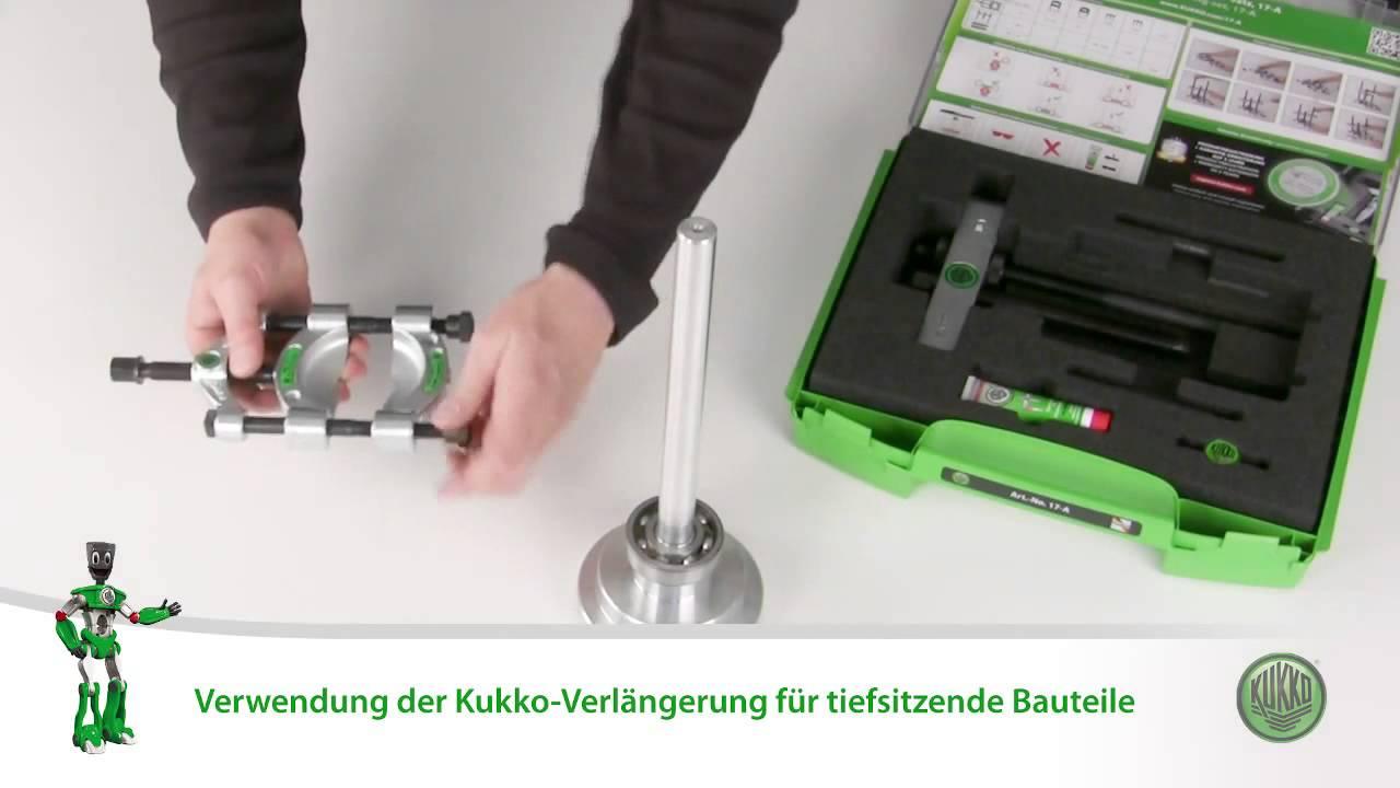 alcance 75 mm Kukko 17-A Juego con separador y tornillo de presi/ón r/ápida