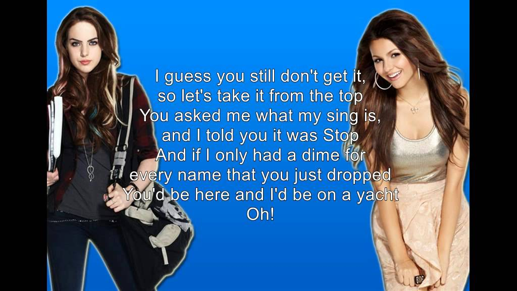 Download Victoria Justice & Liz Gillies - Take A Hint (Lyrics)