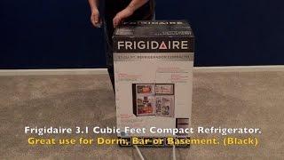 Frigidaire 3.1 Cu. Ft. Refrigerator for Bar, Drom, Basement, Apt. UNBOXING