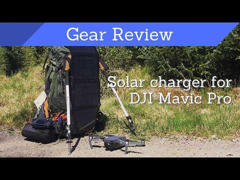 Solar Charger DJI Mavic Pro Drone – Voltaic Arc 20W Solar Panels