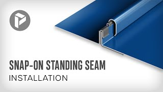 Metal Roofing  - How to install Snap-On Standing Seam