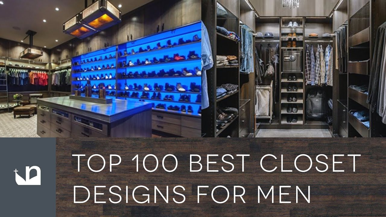 Top 100 best closet designs for men walk in wardrobes for Men s walk in wardrobe