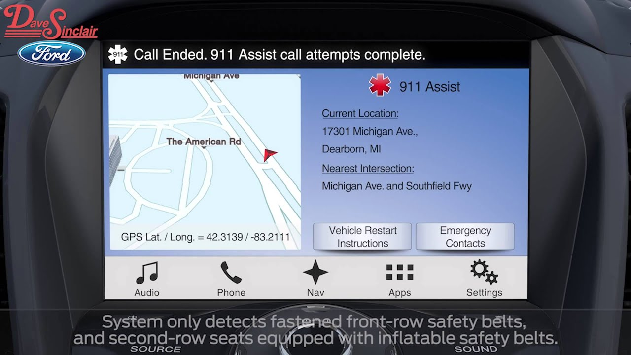 911 assist with ford sync at dave sinclair ford youtube. Black Bedroom Furniture Sets. Home Design Ideas
