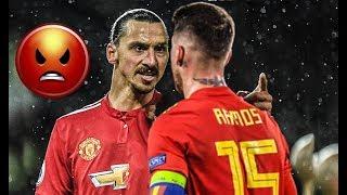Gambar cover Sergio Ramos vs Zlatan Irbahimovic Crazy Fights ● Fouls,tackles,Red cards & Bad Boy moments