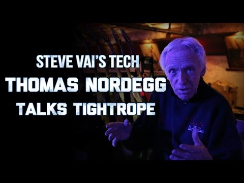 Steve Vai's Tech Thomas Nordegg talks about the Tightrope Cable