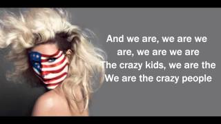 Ke$ha - Crazy Kids ft. will.i.am (LYRICS)