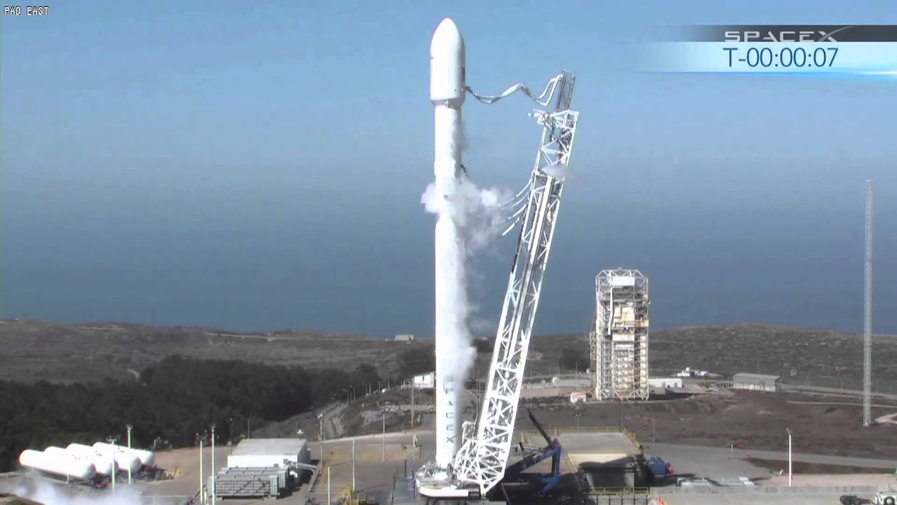 spacex static fire test of a next generation falcon 9 space science full hd video