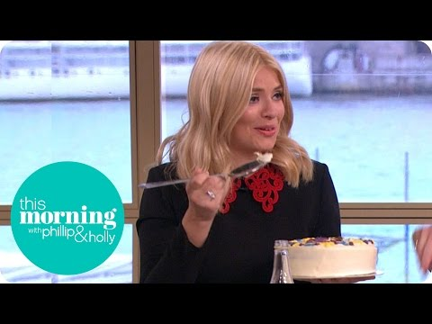 Hungover Holly Willoughby Tucks Into A Cake With A Serving Spoon | This Morning