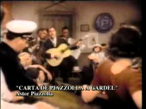 Astor Piazzola leyendo su carta a Gardel. Tangocity.com