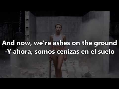 Miley Cyrus -Wrecking Ball -Español & English Lyrics